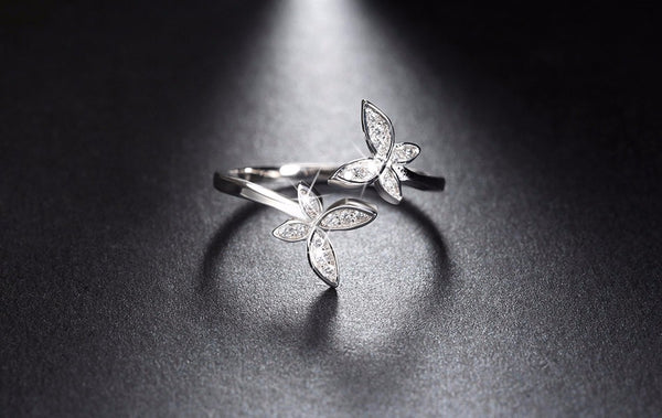 Sterling Silver Adjustable Flower Ring - Arista Gems