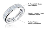Paved 76 Pieces AAA Austrian Cubic Zirconia Rings - Arista Gems