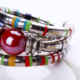 Resin Inlay Adjustable Bead Bracelet - Arista Gems