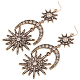 Vintage Fancy Long Earrings - Arista Gems