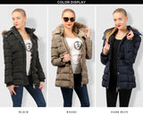 Women's Belted Hooded Winter Coat