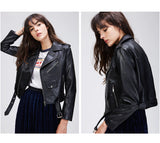 Black Short Classic Leather Jacket - Arista Gems