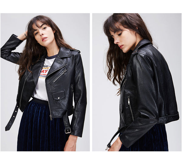 Short Classic High Street Leather Jacket - Arista Gems
