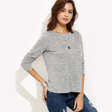 Crossover Back Knit Stretchy Top - Arista Gems