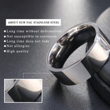 Women's Smooth Silver Color Stainless Steel Ring - seraie