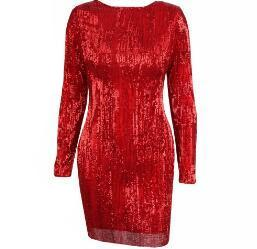 Open Back Sequins Bodycon Dress - Arista Gems