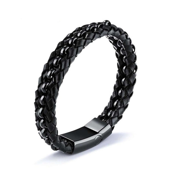 Men's Trendy  20mm Leather Bracelet - Arista Gems
