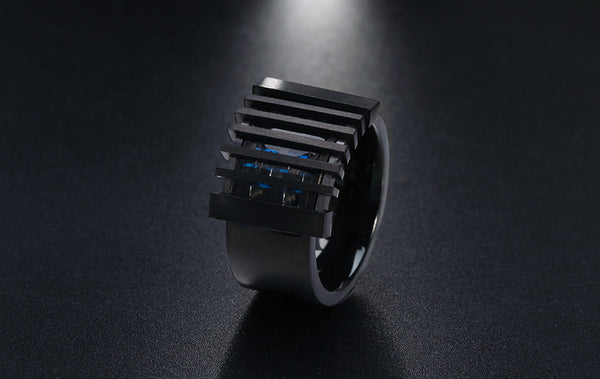 Retro Black Men's Ring - seraie
