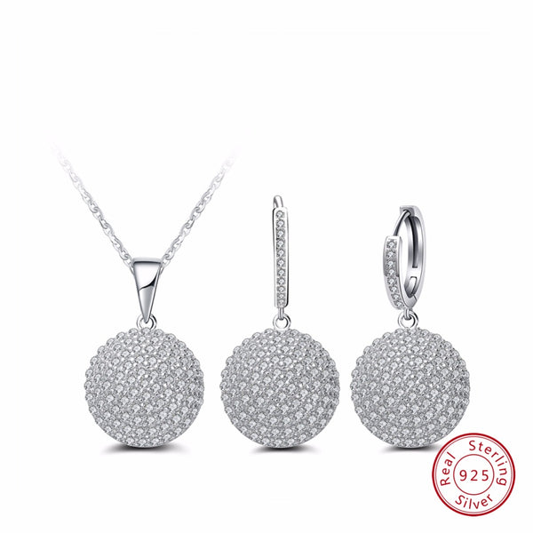 Sterling Silver necklace & Earrings Set - Arista Gems