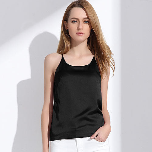 Sleeveless Vest Slim cross back Crop Top - Arista Gems
