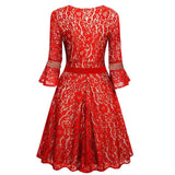 Women's Floral Lace Empire Waist Dress - Arista Gems