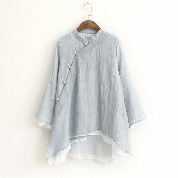 Chinese Style Casual Blouse - Arista Gems