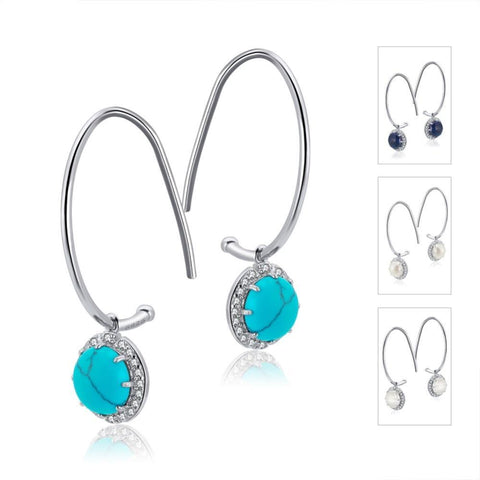 My Love 925 Sterling Silver Drop Earrings