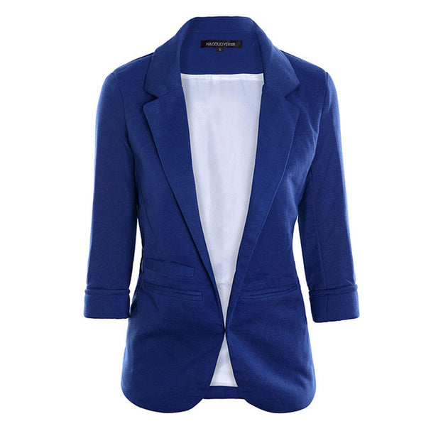 Women's Open Front Notched Blazer - Arista Gems