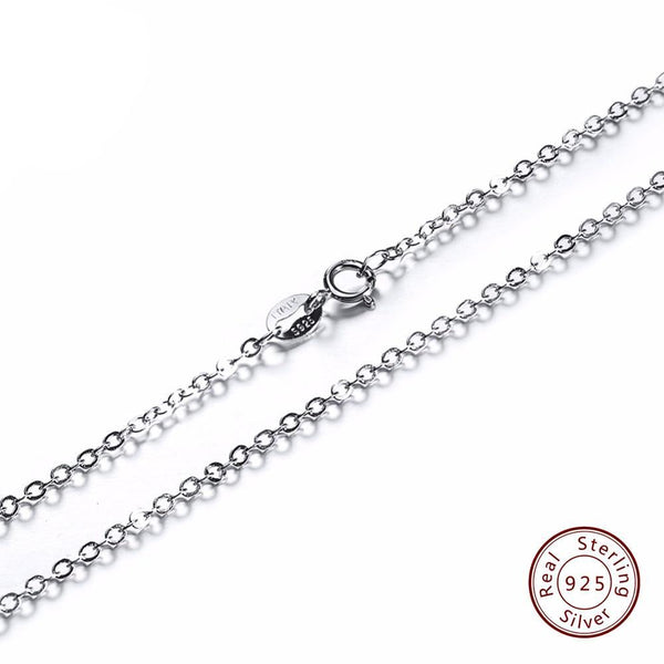 Spring clasps Adjustable Silver Necklace