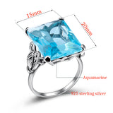 My Blue Aquamarine 925 Sterling Silver Ring - Arista Gems