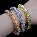 Jenny Textured Cuff Bangle Bracelet Set - seraie