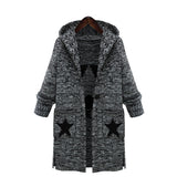 Stars Print Casual Knitted Long Sweater - Arista Gems