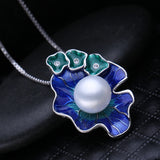 Natural Fresh Water Pearl Flower Pendant - Arista Gems