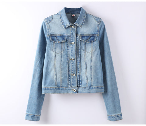 Slim Stretch Short Denim Jacket - Arista Gems