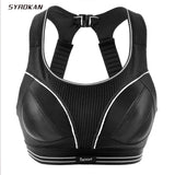 SYROKAN Women's Compression Racerback Adjustable High Impact Running Sports Bra (size smaller than normal) - Arista Gems