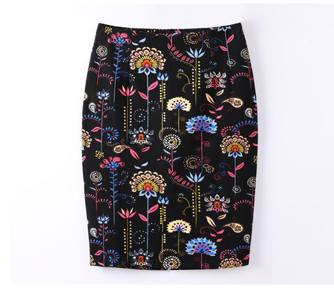 Women's Floral Pencil Fitted Skirt - Arista Gems