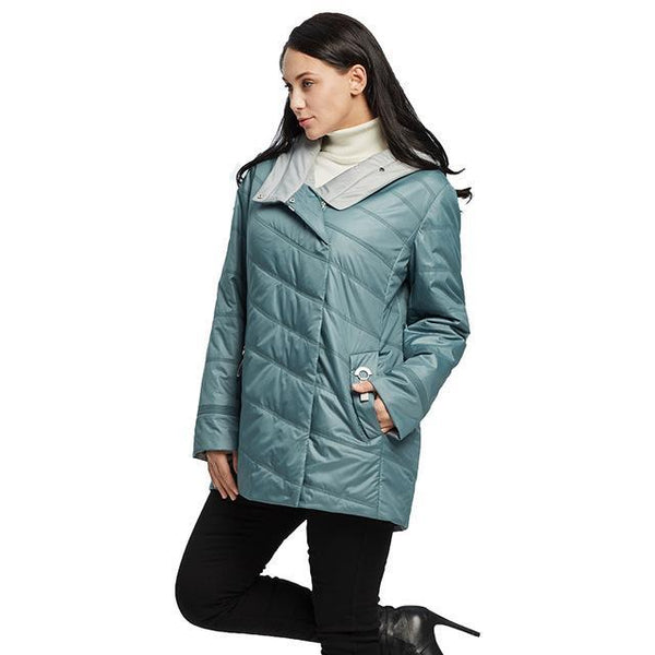 Women's Winter Quilted Hooded Jacket - Arista Gems