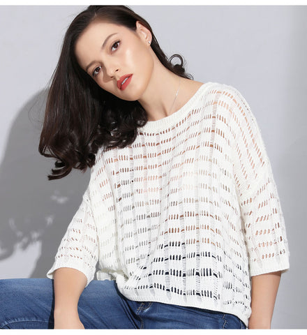 Spring Hollow Out Pullover Sweater