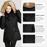 Women's Racoon Fur Windproof Winter Jacket - Arista Gems