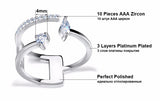 Adjustable Brilliant AAA Austrian Ring - Arista Gems