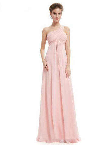 A-line One Shoulder Evening Gown - Arista Gems