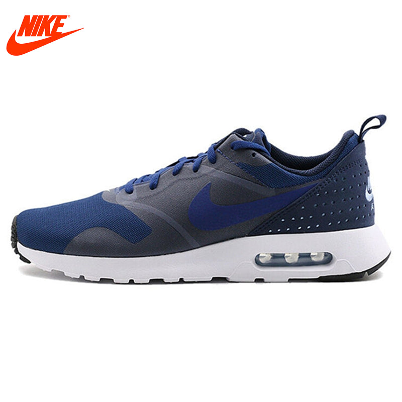 Original NIKE Breathable AIR MAX TAVAS Men's Running Shoes Sneakers Blue  Grey and Red Black