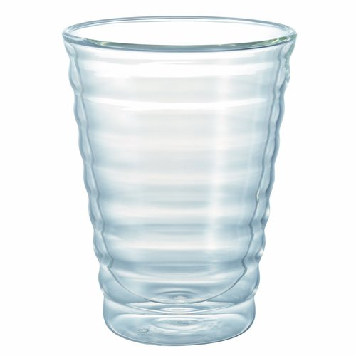 15oz. Double-Walled Coffee Glass - West bean