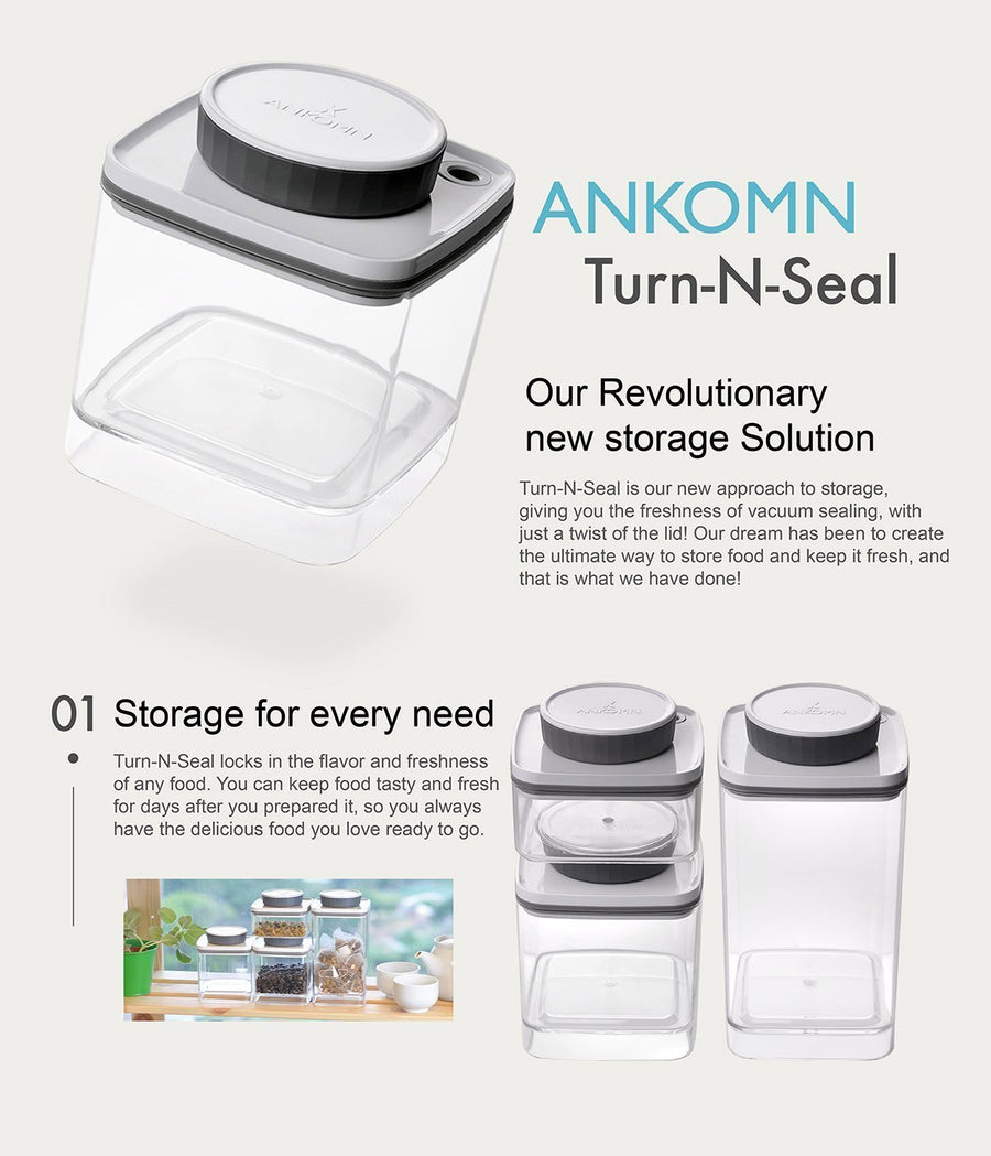 ANKOMN Turn-N-Seal Vacuum Container (0.6L + 1.2L Bundle) - Soon Specialty Coffee - Malaysia First Direct Fire Coffee Roaster