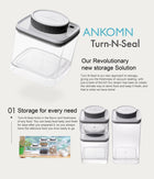 ANKOMN Turn-N-Seal Vacuum Container 1.2L - Soon Specialty Coffee - Malaysia First Direct Fire Coffee Roaster