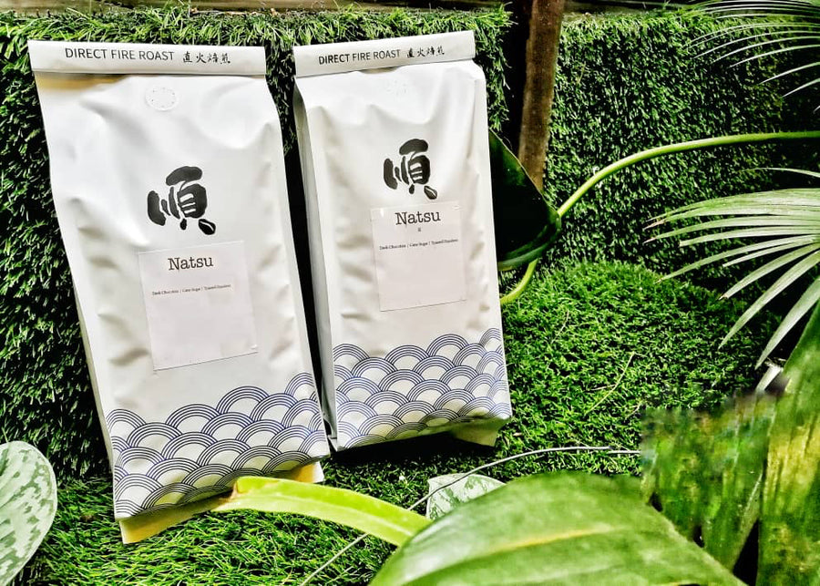 Roasted Coffee Beans:  NATSU BLEND - Soon Specialty Coffee - Malaysia First Direct Fire Coffee Roaster