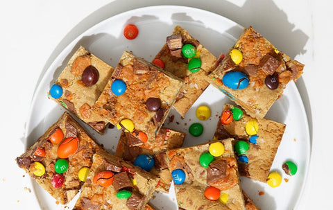 Salted Candy Brownie Bars