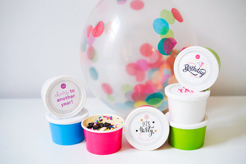 Image of cookie dough containers