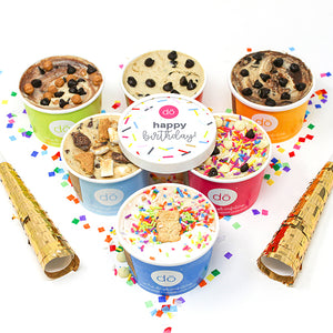 happy birthday edible cookie dough 6 pack
