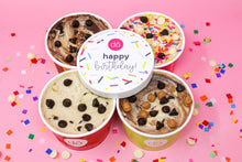 birthday gift edible cookie dough 4 pack