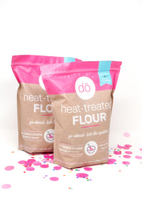 image of 2 heat-treated flour packages