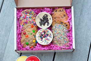 variety pack cookie box & edible cookie dough bundle