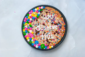 custom message on cake