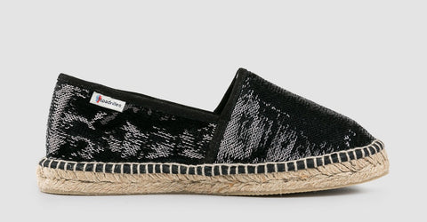 BLACK SEQUINS ESPADRILLES