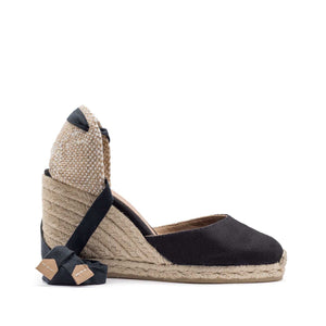 Castaner Espadrilles Black 80mm Wedge