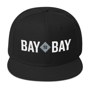 Bay to Bay Black Snapback