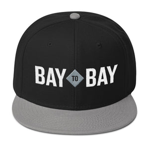 Bay to Bay Black/Silver Snapback