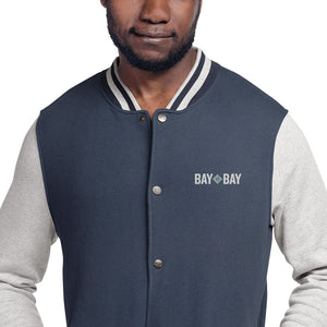 Bay to Bay Embroidered Bomber Jacket