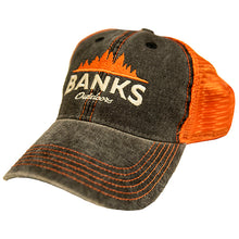 Trucker Hat - Black/Orange