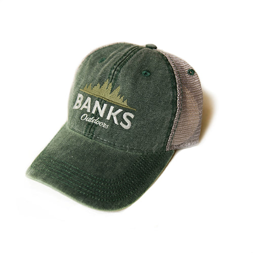 Trucker Hat - Dark Green/Grey